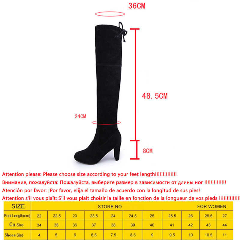 Doratasia Marka yeni büyük boy 35-43 yüksek Topuklu Sıcak Satış Üzerinde Diz Çizmeler Kadın Ayakkabı Kadınlar Seksi streç kumaş Çizmeler Kadın