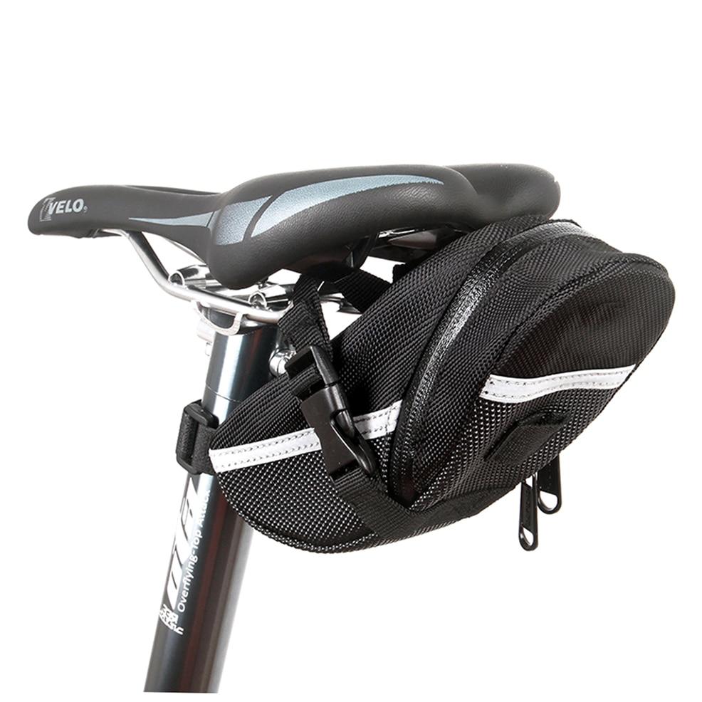 Roswheel Bike Seat Bag Waterproof Bicycle Saddle Tail Bag Pack With Rail Light