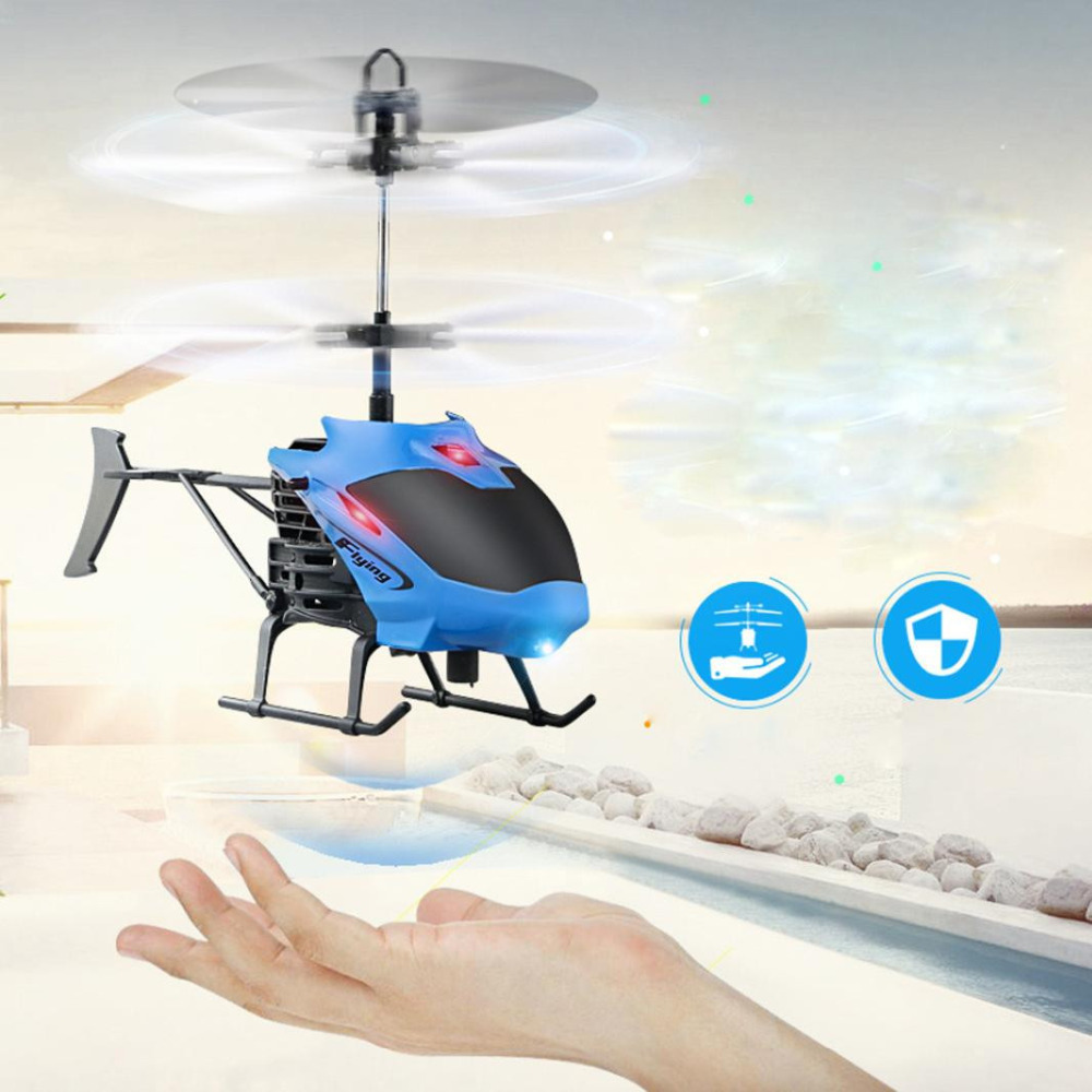 MUQGEW 2017 New Flying Mini RC Infraed Induction Helicopter Aircraft Flashing Light Toys For Gift Kids Induction Flight Model