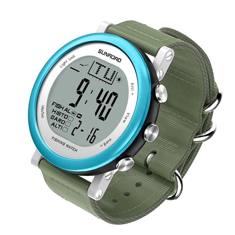 Рыбалка Многофункциональный барометр часы FR721 цифровой 5ATM водонепроницаемые спортивные часы рыболовные снасти Аксессуары Multi-Цвет