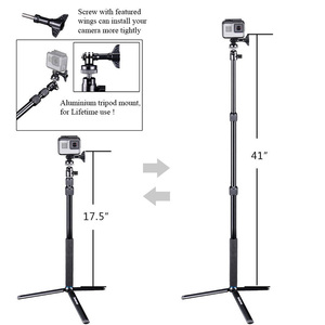 Image 5 - Smatree SmaPole For GoPro hero7/6/5/4/3 Session Cameras Ricoh Theta S Telescoping Selfie Stick Tripod Stand for DJI Osmo Action