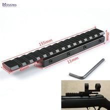 MIZUGIWA ласточкин хвост Расширение Вивер прицела Пикатинни адаптер 11 мм до 20 мм конвертер тактические базы винтовка страйкбол