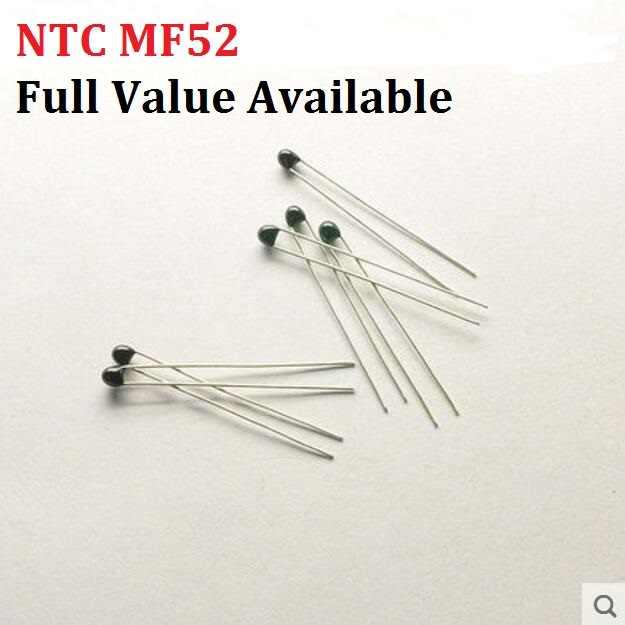 20PCS NTC תרמיסטור הנגד תרמי MF52 NTC-MF52AT 1K 2K 3K 4.7K 5K 10K 20K 47K 50K 100K 5% 3950B 1/2/3/4.7/K אוהם R ערכת