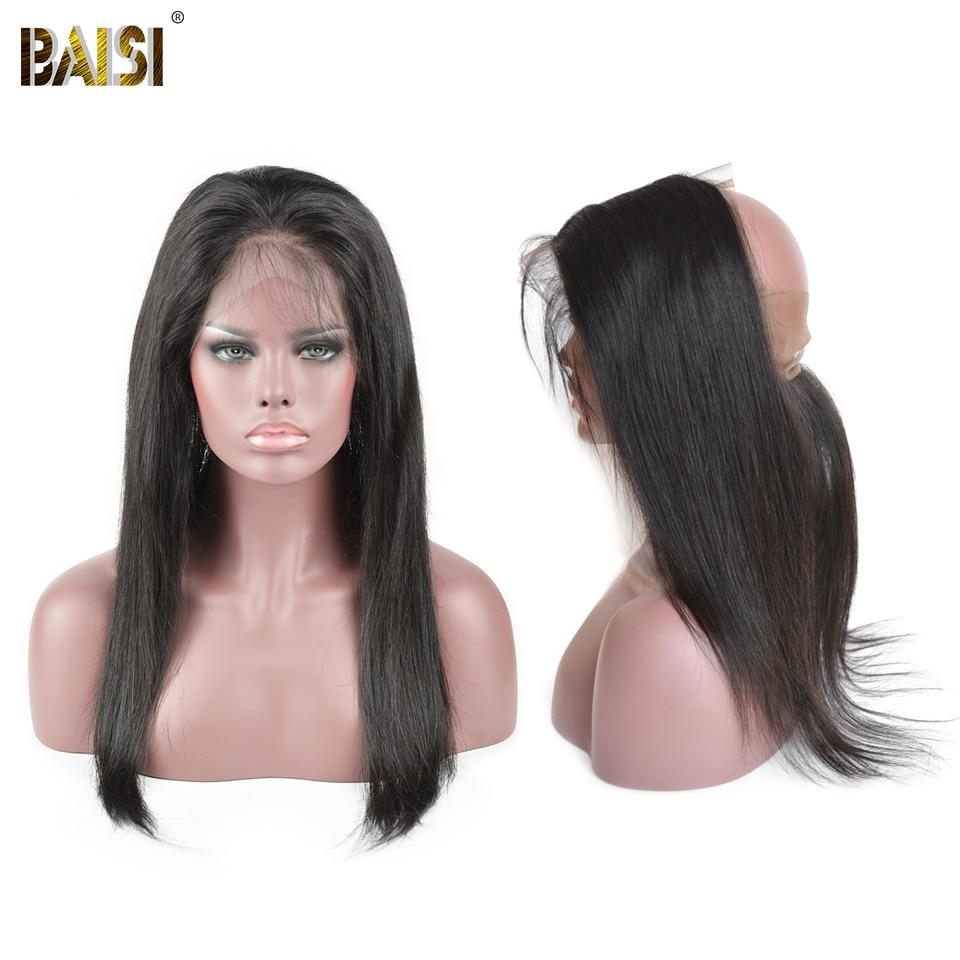 BAISI Перуанський Прямий 360 Мереживо - Людське волосся (чорне) - фото 2