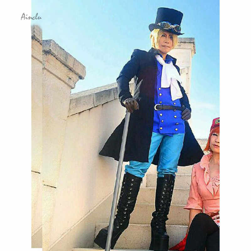 Ainclu Customize for adults and kids Free Shipping One Piece Sabo Halloween Cosplay Costume Sabo 12 Years Later Cosplay Costume