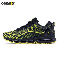 ONEMIX 2018 Man Running Shoes For Men Black Yellow Cushion Shox Athletic Trainers Sports Max Breathable Outdoor Walking Sneakers