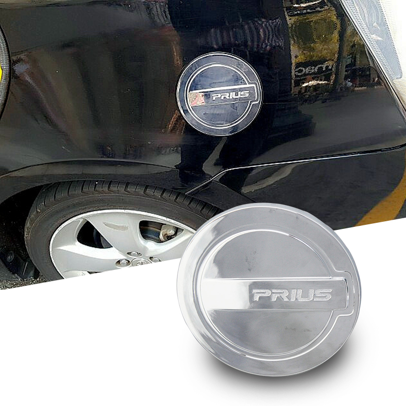 FLYJ ABS Chrome Car Styling Auto Oil Fuel Tank Cover Cap car Sticker For Toyota PRIUS 2012 2013 2014