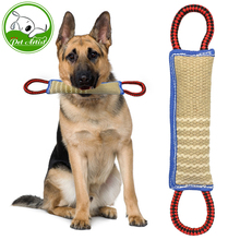 Linen K9 Tug Toy With Two Handles For Adult Dogs And Puppies For Dogs Pet Training Play Throw