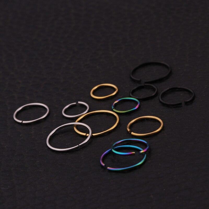 Conjuntos de venta 4pcs Snug Rook Daith Tragus Lobe Helix Piercing - Bisutería - foto 3