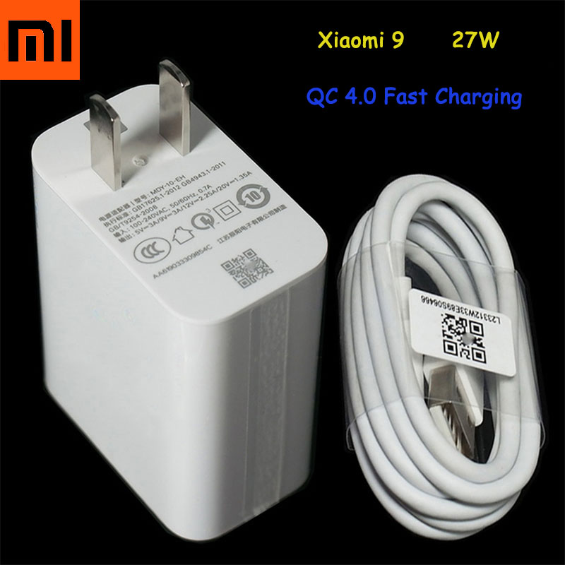 Mobile Phone Chargers Original Xiaomi Mi 9 Fast Charger Qc 4.0 27w Usb Wall Quick Charge Adapter Usb 3.1 Data Cable For Mi9 Se Mi 8 7 F1 Mix 2 2s 3 Mobile Phone Accessories