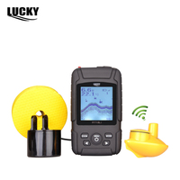 LUCKY Rechargeable Waterproof 2 In 1 Fish Finder Fishfinder Sonar Transducer 328ft 100m And 180m Wired