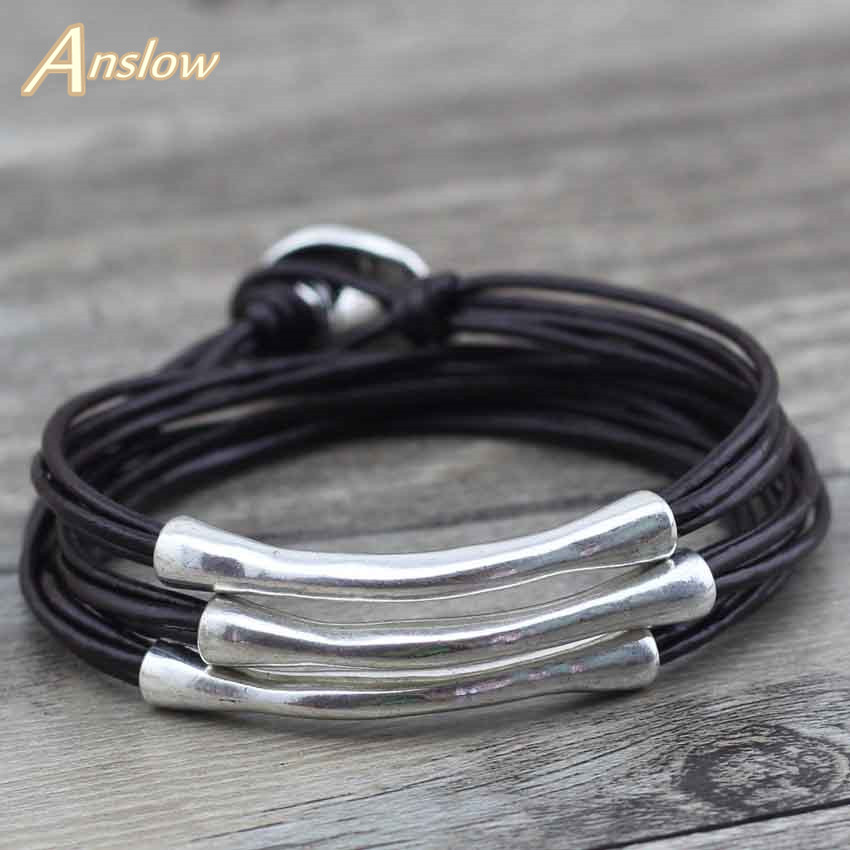 Anslow Cheap Price Fashion Jewelry New Design Vintage Style Men Women Multilayer