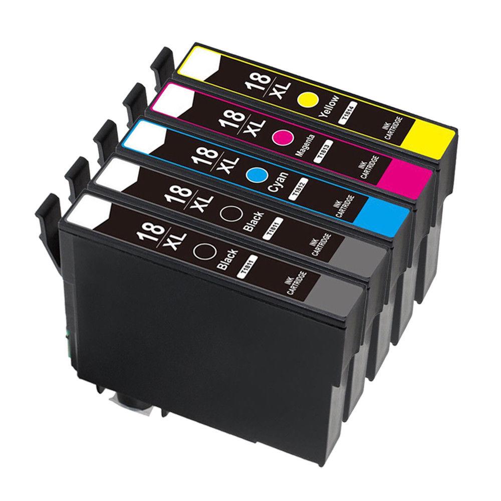5PCS Ink Cartridges T1811 compatible for EPSON XP-102 XP-202 XP-305 XP-405 XP-215 215 Printer ink