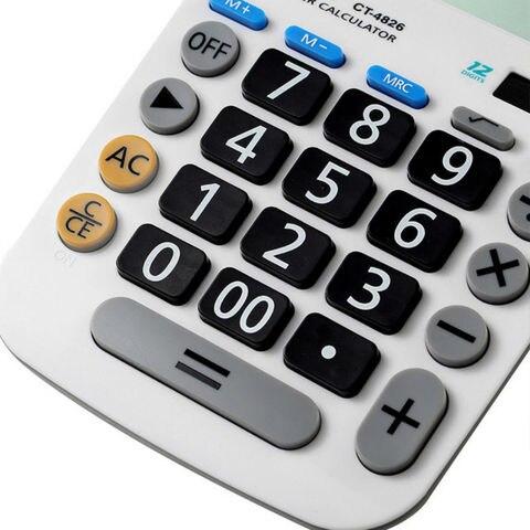 eletronico calculatorwith grandes botoes larg displaycomputer dual solar powerdesktop handheld maquina de