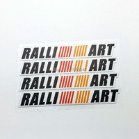 2016 Automobiles Real Special Offer Limited Cartoon Car Styling Ralliart Sticker Decal For Mitsubishi Door Handle