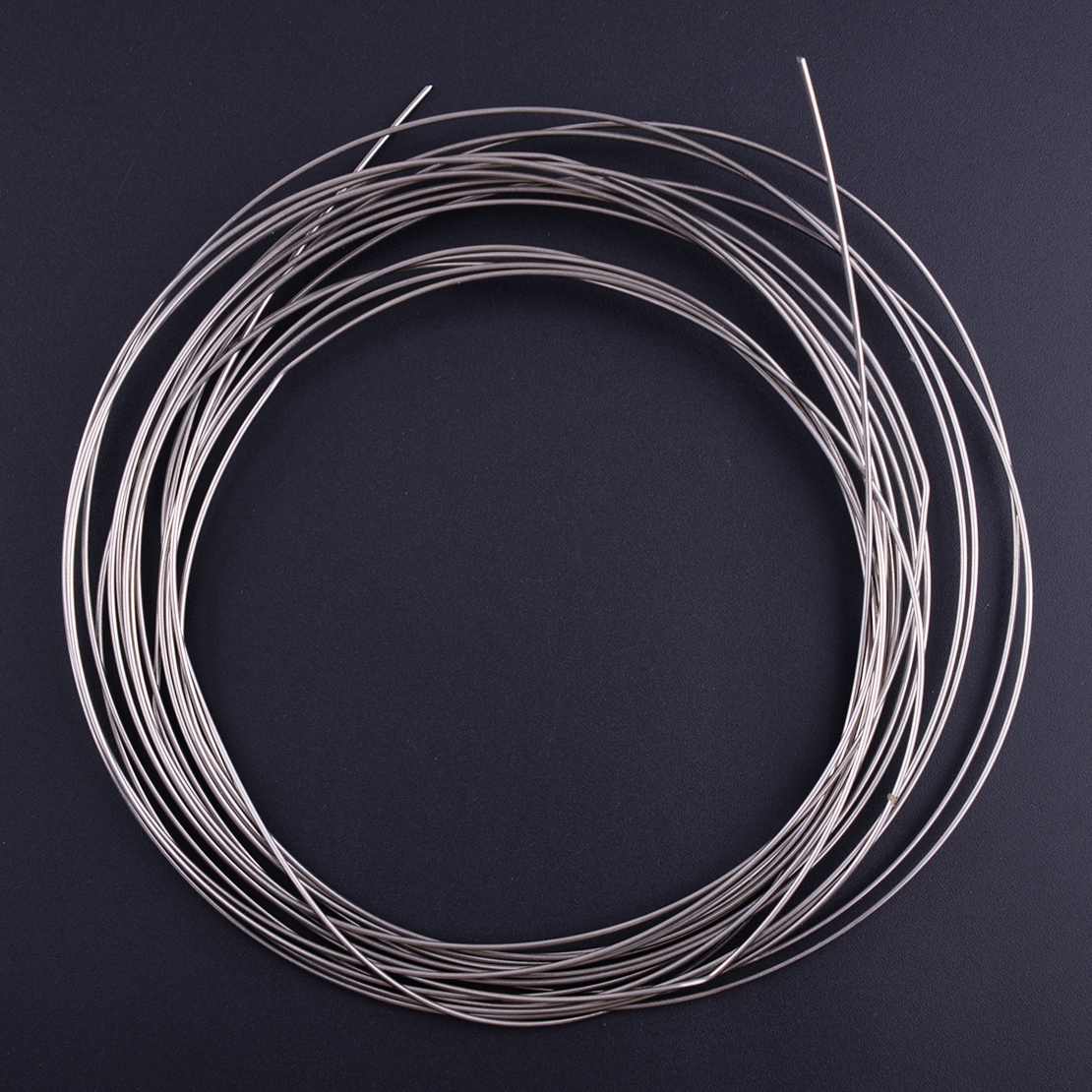 LETAOSK High Quality 5M 1mm Silver 304 Stainless Steel Bright Single Hard Wire Hanging Fastening Craft Decorating
