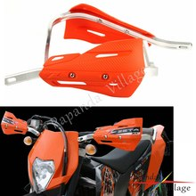 "Orange 1-1/8 ""guidon main gardes protecteur Dirt Bike Motocross 28mm Handguard pour KTM Duke 690 390 125 EXC XCF SX MX Enduro(China)"