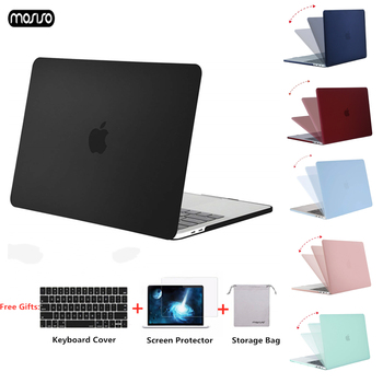 MOSISO 2018 Matte Case For Macbook Air 13 inch A1932 Laptop Sleeve for macbook Pro 13 15 Cover With Touch Bar A1706/A1707/A1990 mosiso new crystal matte laptop case for apple macbook pro 13 15 hard shell for new macbook pro 13 case cover a1708 a1706 a1990