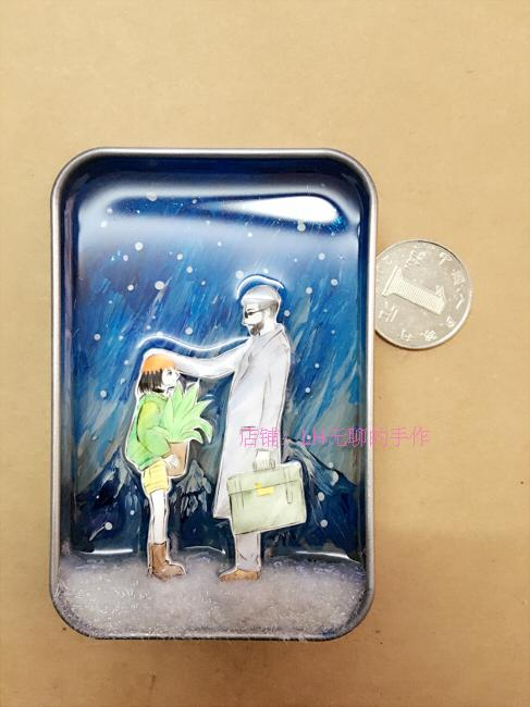 [This killer is not too cold] hand-painted 3d three-dimensional resin painting the original world of creative gift box