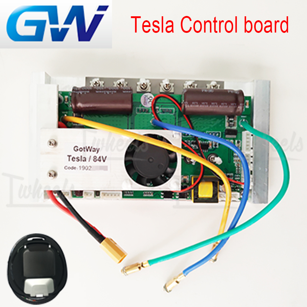 New GotWay Tesla electric unicycle CPU control board replacement mainboard 84V 67.2V EUC mainboard upgrade the light mode|Electric Bicycle Accessories| |  - title=
