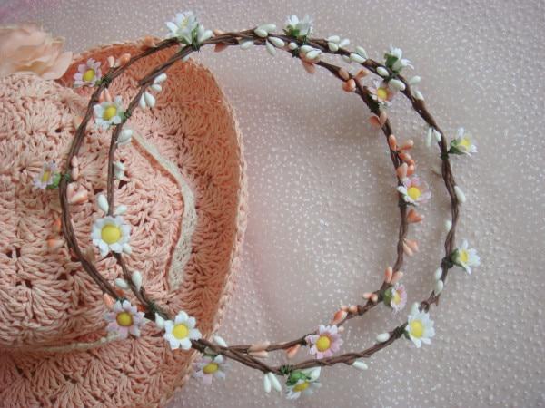 (4 adet / grup) Bohem Stili Çelenk Çiçek Taç Düğün Garland - Tatiller ve Partiler Için - Fotoğraf 4