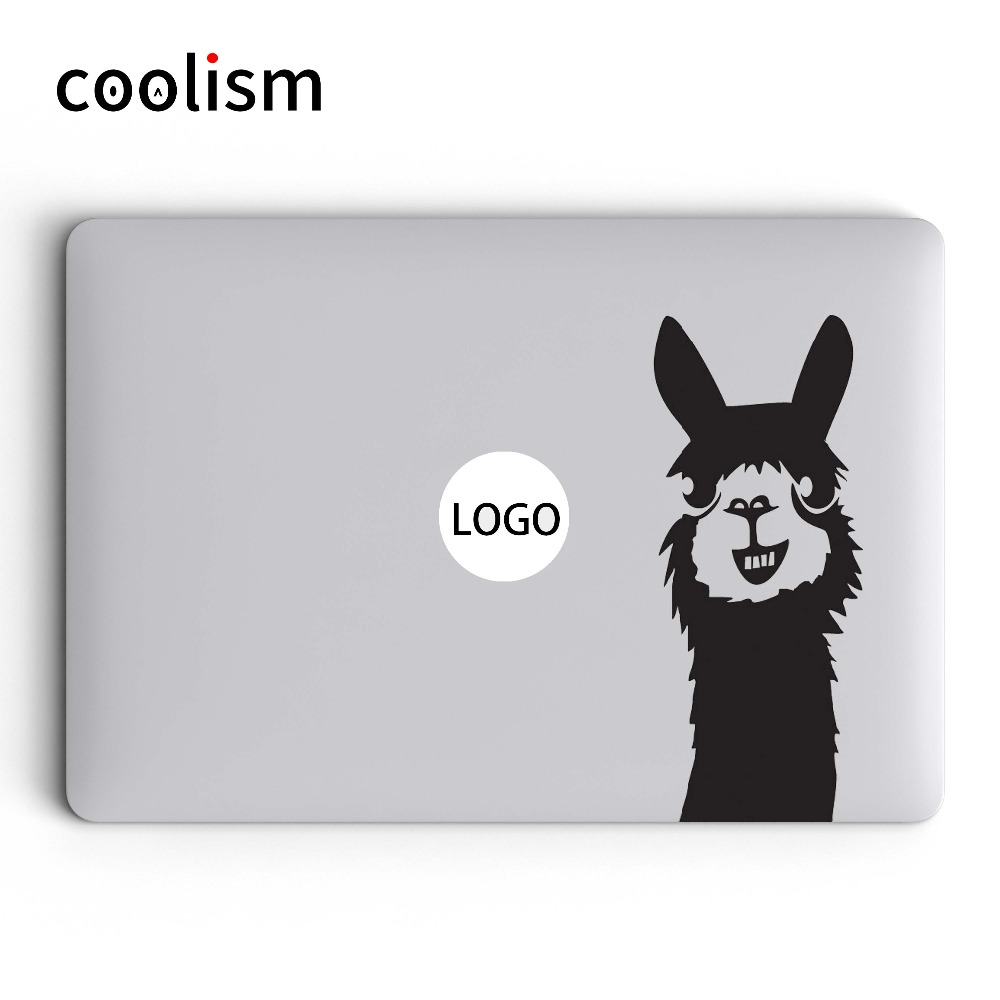Cute llama laptop sticker for macbook decal 13 pro air retina 11 12 15 6 inch mac hp mi dell acer animal notebook skin diy decal in laptop skins from