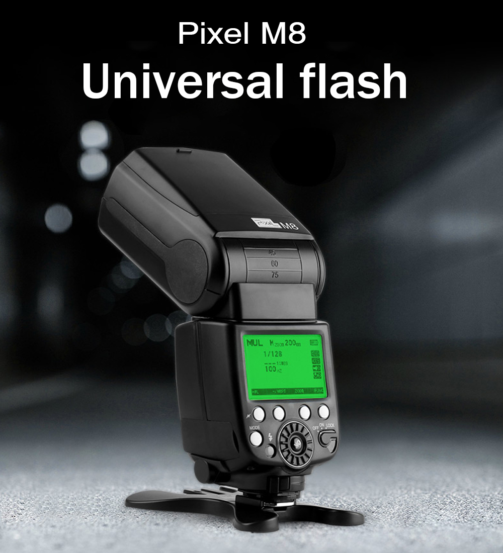 Pixel M8 2.4GHz Universal GN60 Wireless Flash Speedlite For Nikon D7500 D7200 D7100 D7000 D5600 D750 D610 D600 D500 D5500 D3400 meike mk d750 battery grip pack for nikon d750 dslr camera replacement mb d16 as en el15 battery