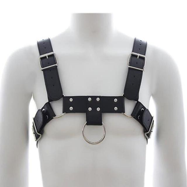 Men Leather Harness Body Shoulder strap belts Sexy Punk Binding Cage Sculptures Breast Belt O metal_640x640 men leather harness body shoulder strap belts sexy punk binding cage