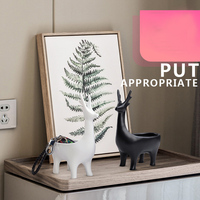 Creative Resin black and white cute deer home put key porch storage ornaments door Shoe cabinet desktop storage box decorations