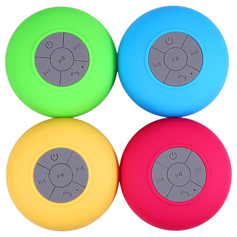 BTS06 Portable Subwoofer Shower Waterproof Wireless Bluetooth Speaker Car  Handsfree Receive Call Music Suction Mic