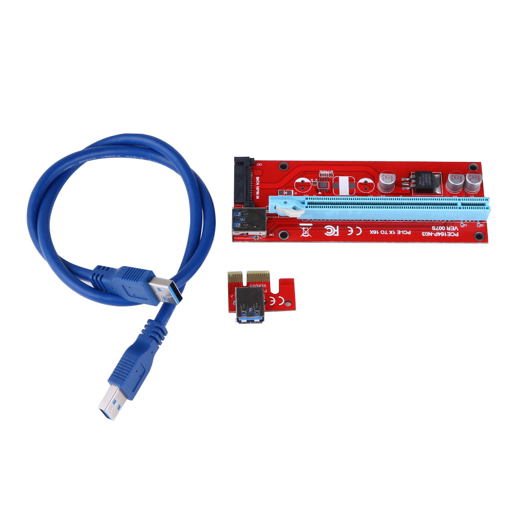30 60cm Usb Pcie Riser Card Pci E Express 1x To16x Extender To 16x Adapter Sata 15pin Power Supply For Btc Miner Machine