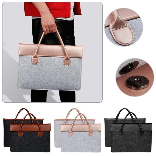 Felt Laptop Bag for 11 13 15 inch computer Laptop Solid Notebook Tablet Bag Laptop bag.jpg 640x640 - MacBook Bag – Wool Felt Bag
