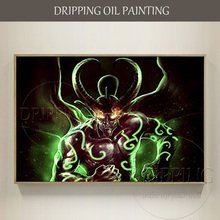 Excellent Artist Pure Hand-painted High Quality Demon Hunter Illidan Oil Painting on Canvas Super Popular