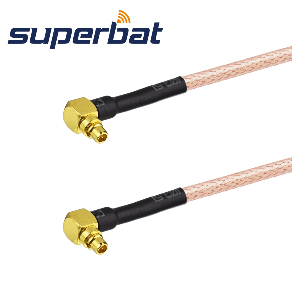 Superbat RF Coaxial Cable MMCX male RA to MMCX male Right Angle pigtail cable RG316 30cm