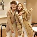 2016 New Arrival Winter  Jacket Men Long Casual Outerwear Solid Cotton Padded Men Coat Plus Size