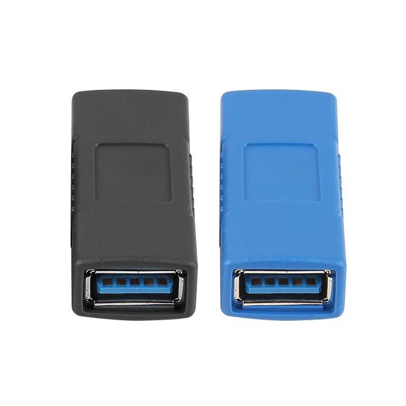 1 sztuk USB 3.0 złącze adaptera typ A żeński do żeńskiego łącznik zmieniacz złącze trwałe na PC laptop