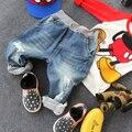 2-10Y new 2015 autumn winter high quality boys fashion print dot hole jeans children pant kids jeans boys trousers