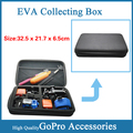 Free Shipping!!Gopro Accessories Big EVA Large Size 32.5 x 21.7 x 6.5cm Collection Box Bag For Gopro Hero 3+/3/2/1 SJ4000