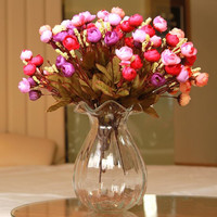 1PCS Decorative Flowers Fashion Brief middle Floor Vases Classical Style Water bottle fashion crystal glass vase transparent