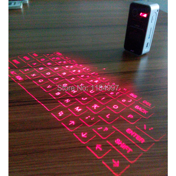 50pcs New Arrival 4in1 Virtual Laser Projector Keyboard Mouse Speaker Power Bank For IPhone IPad Samsung