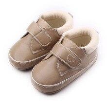 Весна Осень Твердые Дизайн TPR Подошва ПУ Материал Два Цвета Детские Мальчики и Девочки Обувь Для 0-15 М