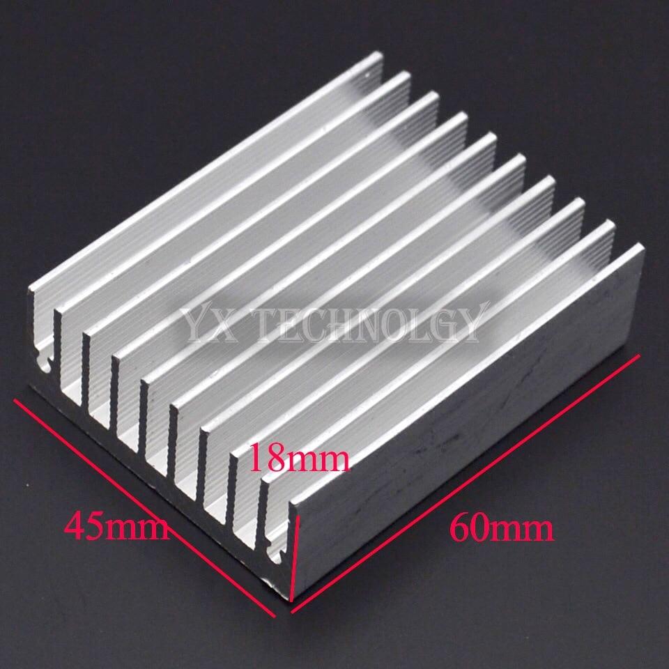 1pcs Heat sink 60 * 45 * 18MM (silver) high-quality radiator