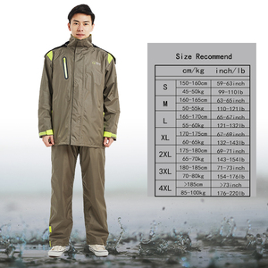 Image 5 - QIAN Brand Impermeable Raincoats Women/Men Jacket Pants Set Adults Rain Poncho Thicker Police Rain Gear Motorcycle Rainsuit