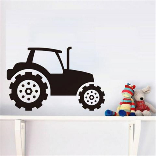 Kids Tractor Wall Sticker Vinyl Self Adhesive Removable Wall Decals ...