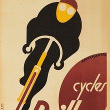 Clásico minimalista bicicleta francesa ciclo Retro Vintage cartel de papel Kraft lienzo cuadro adhesivo para pared decoración del hogar regalo