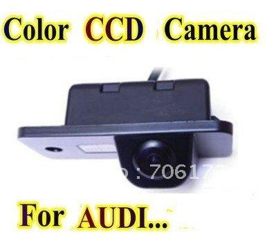Promoção Cor CCD Car Inverter Rear View Camera backup de estacionamento retrovisor Para Audi A3/A4/A5/A6/A8/Q7/S4/S5/RS4/TT