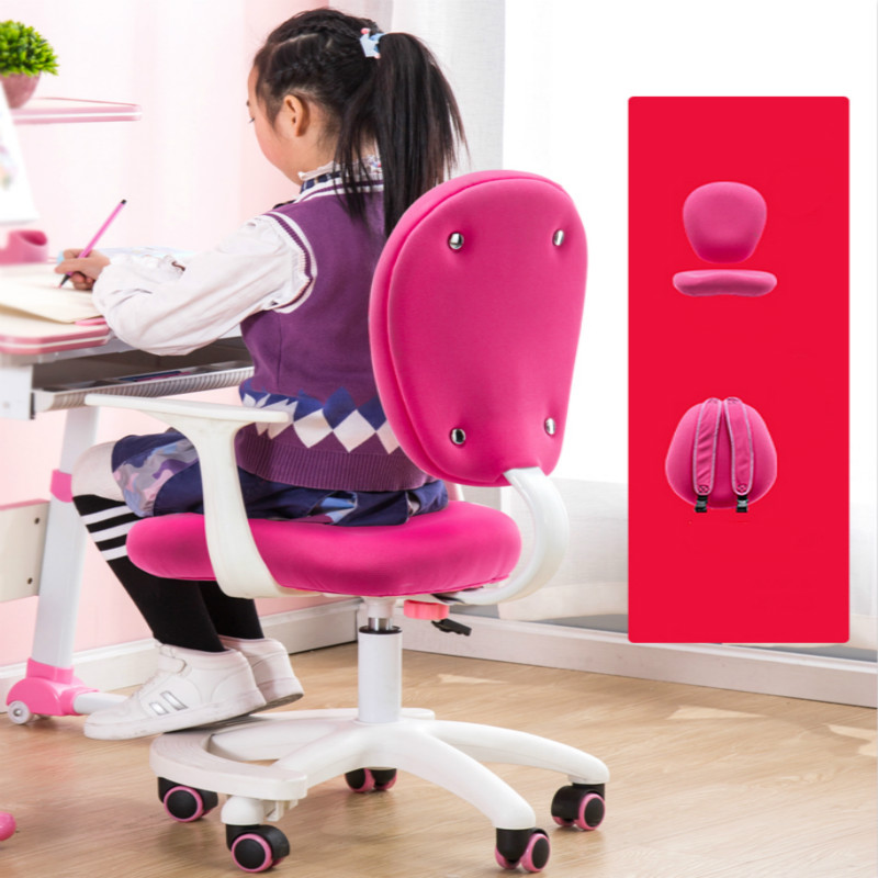 Children Study Chair Household Writing Chair Adjustment Lifting Swivel Seat Pupils Desk Chair Writing Desk Backrest Chairs