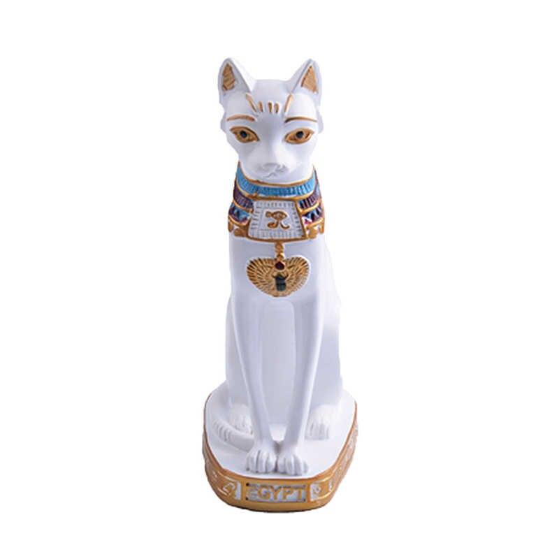 Gatto egiziano Figurine Statua Della Decorazione Dell'annata del Gatto Dea Bastet Statua Giardino di Casa In Miniatura Figurine Complementi Arredo Casa Accessori