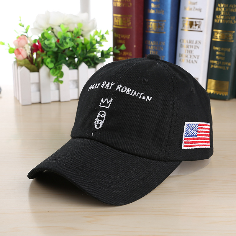 low profile fitted baseball cap hats black embroidered curved brim font polo