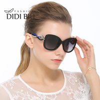 DIDI Polarized Oversized Shield Sunglasses Women Acetate Hollow Sun Glasses Gothic Hipster Decorated Brand Shades Lunette